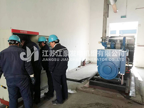 江西养殖场一台500KW玉柴配恒声机组调试现场